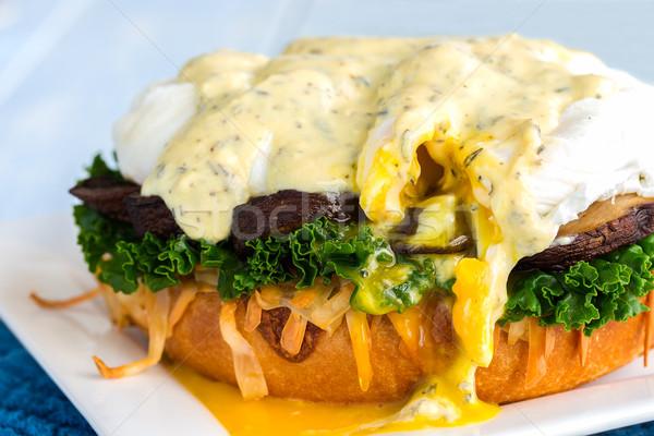 Mushroom Eggs Benedict Stock photo © LAMeeks