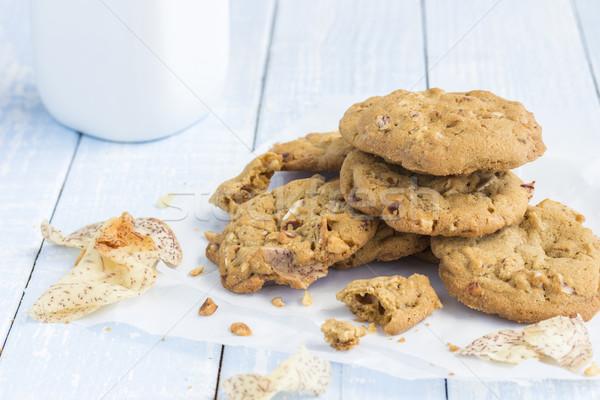 Puce cookies brisé puces haché alimentaire Photo stock © LAMeeks