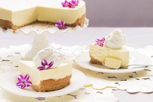 Tarte élégante passion fruits alimentaire gâteau Photo stock © LAMeeks