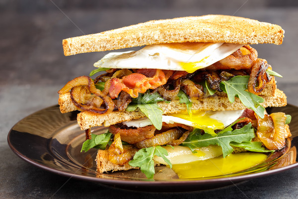 Bacon and Egg Sanwich Stock photo © LAMeeks