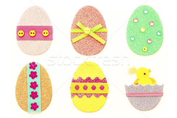 Glitter Easter Eggs Stock photo © LAMeeks