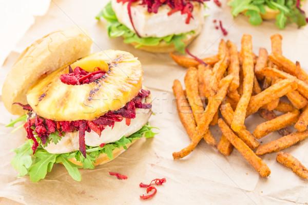 Hawaiian Tuna Burger Stock photo © LAMeeks