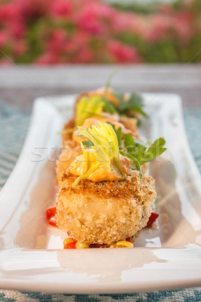 краба торты кукурузы служивший Top продовольствие Сток-фото © LAMeeks