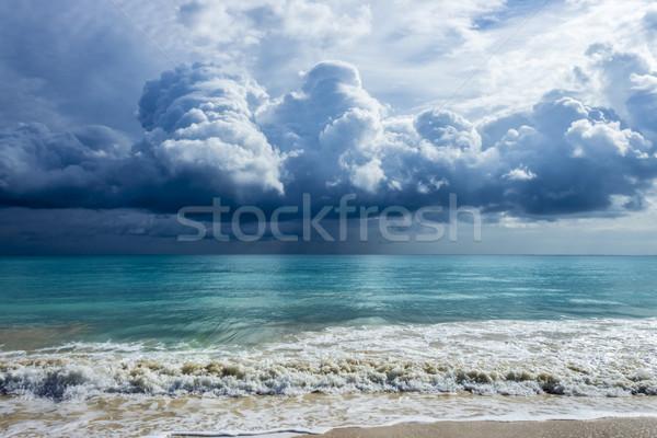 Nubes de tormenta hermosa cielo nubes paisaje luz Foto stock © LAMeeks