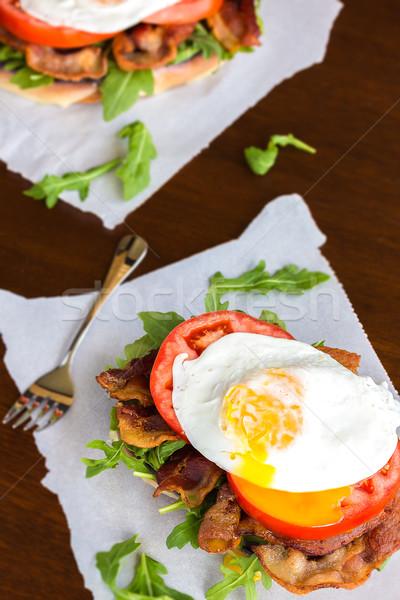 Blt サンドイッチ チーズ ベーコン トマト ストックフォト © LAMeeks