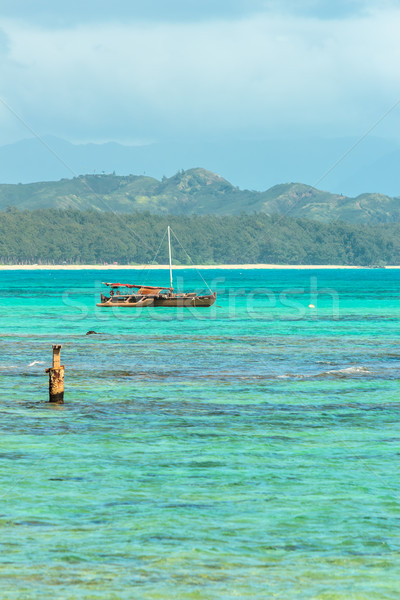 Catamarán agua paisaje mar azul tropicales Foto stock © LAMeeks