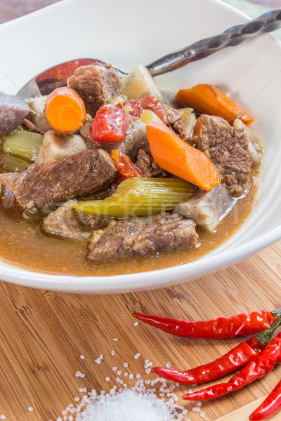 Taro Beef Stew Stock photo © LAMeeks