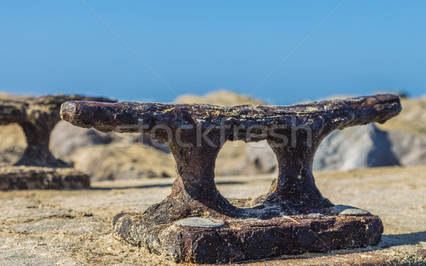 Rusty Boat Dock Cleat Stock photo © LAMeeks