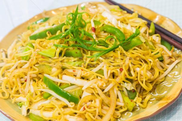 Vegetable Fried Noodles Stock photo © LAMeeks