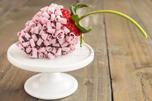 Pink Chocolate Strawberry Stock photo © LAMeeks