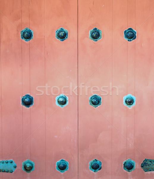 Puerta hardware cerca vista colorido Foto stock © LAMeeks