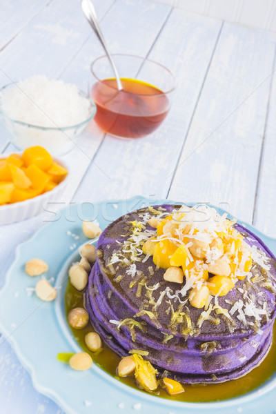Hawaiian taro pancakes Stock photo © LAMeeks