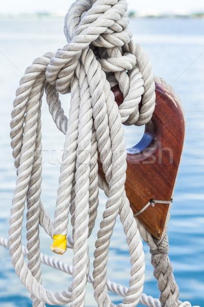 парусника веревку парусного судно линия Сток-фото © LAMeeks