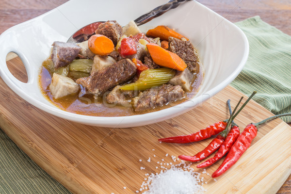 Taro Beef Stew Stock photo © LAMeeks