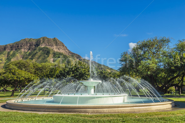 Dillingham Fountain and Diamond Head Stock photo © LAMeeks