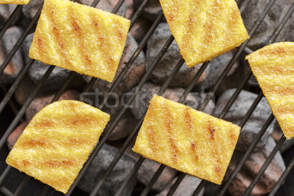 Stock photo: Grilled polenta