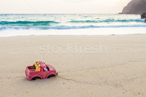 Toy Truck On The Beach Stock photo © LAMeeks