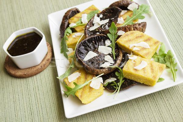 Balsamic Portobellos and Grilled Polenta Stock photo © LAMeeks