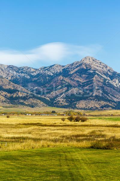 Montanha campos belo outono pé alcance Foto stock © LAMeeks