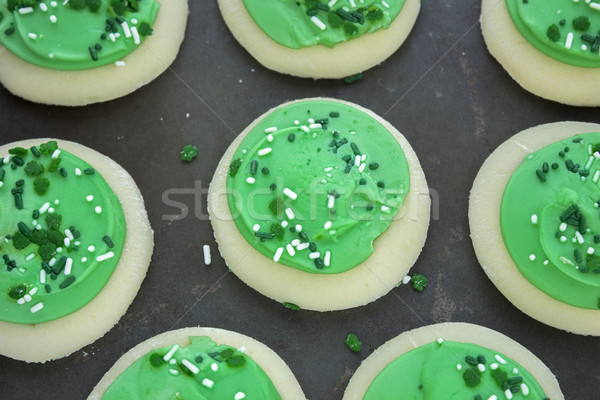 Zöld shamrock cukor sütik édes édesség Stock fotó © LAMeeks