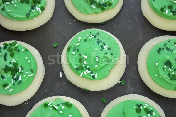 Verde shamrock raio bolinhos doce doces Foto stock © LAMeeks