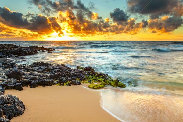 Восход берега небе воды облака Сток-фото © LAMeeks