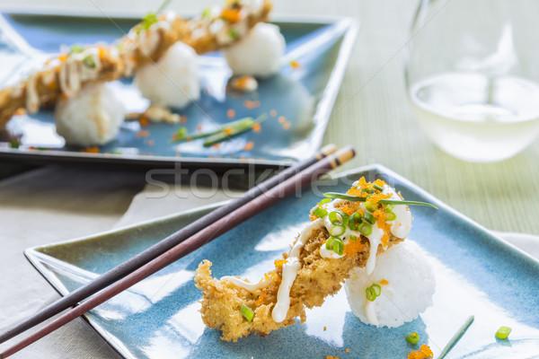 Fried Breaded Sushi Stock photo © LAMeeks