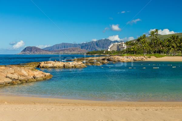 первый четыре курорта пляж воды облака Сток-фото © LAMeeks