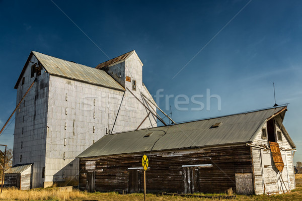 Stock photo: Old Abandoned Grainery