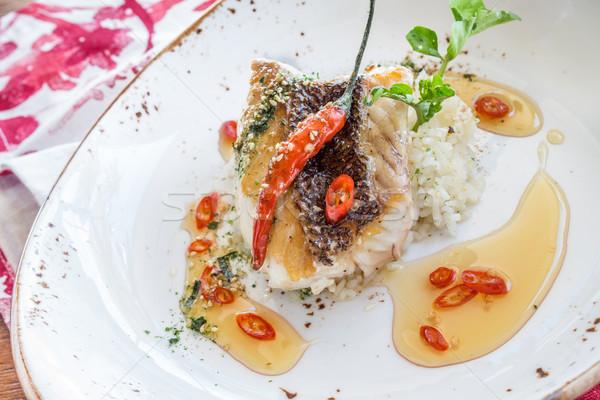 Croccante affumicato peperoncino miele pesce rosso Foto d'archivio © LAMeeks