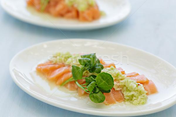 Salmone sashimi salsa pesce arancione Foto d'archivio © LAMeeks