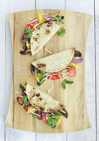 Vegetales tacos setas calabacín púrpura Foto stock © LAMeeks