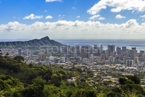 Waikiki diamante cabeça ver montanha alcance Foto stock © LAMeeks