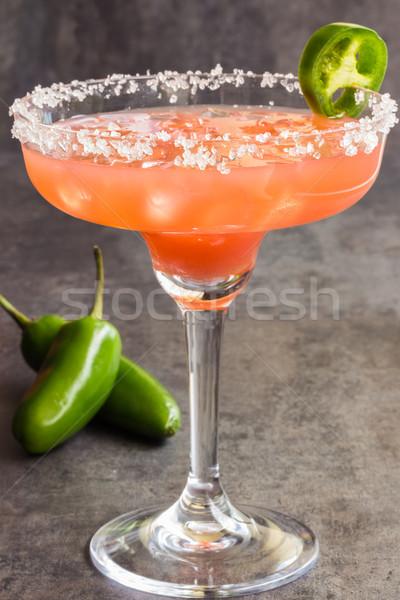 Jalapeno épicé jus tequila rose Photo stock © LAMeeks
