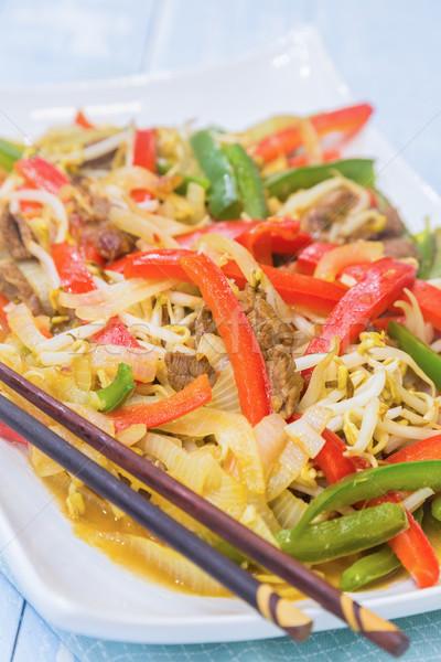 Vegetable Beef Stirfry Stock photo © LAMeeks