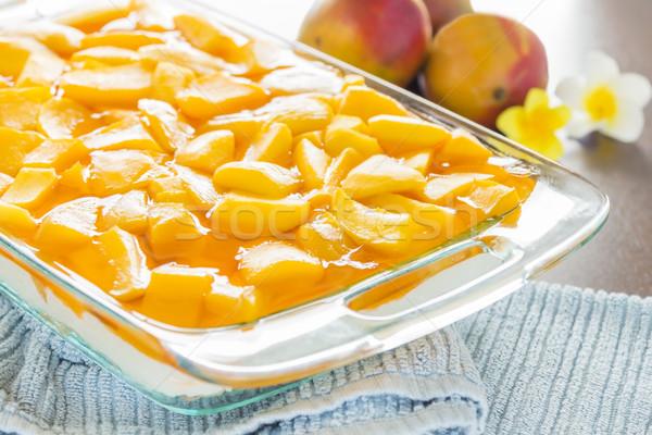 Hawaiian Mango Jello Cheesecake Stock photo © LAMeeks