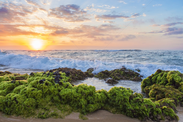 Восход красивой пород пляж небе Сток-фото © LAMeeks
