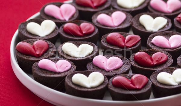 Heart Brownies Stock photo © LAMeeks