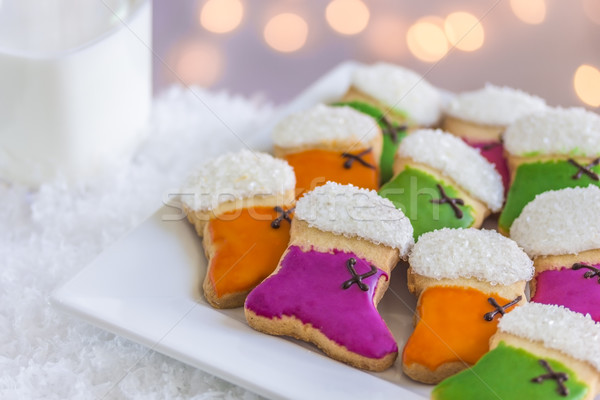 Natal lotação bolinhos laranja verde roxo Foto stock © LAMeeks