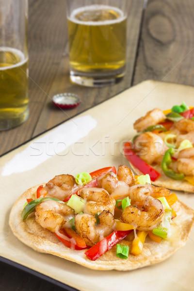 Spicy Shrimp Pizza Stock photo © LAMeeks