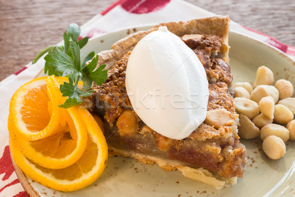 Poi Mac tuerca pie alimentos dulce Foto stock © LAMeeks