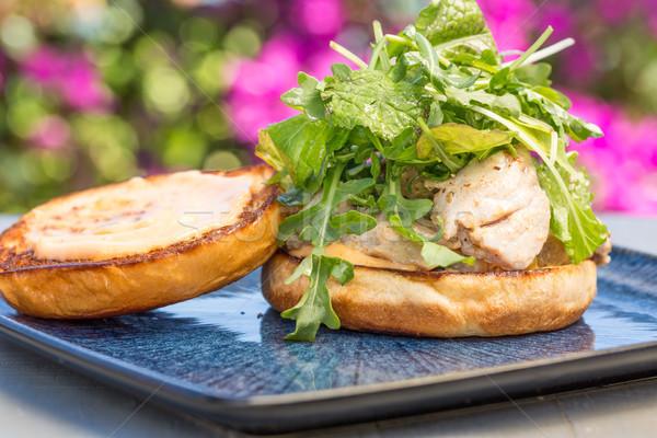 Grilled Ahi Sandwich Stock photo © LAMeeks