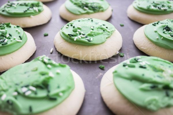 Green Shamrock Sugar Cookies Stock photo © LAMeeks