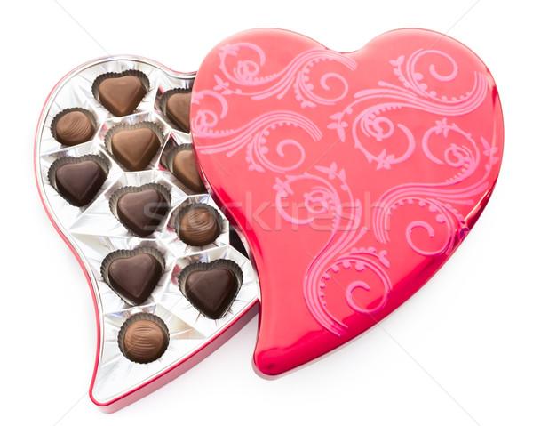 красный сердце шоколадом олово дизайна Сток-фото © LAMeeks