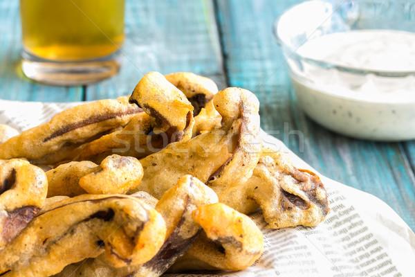 Patates kızartması bira mantar yoğurt içmek Stok fotoğraf © LAMeeks