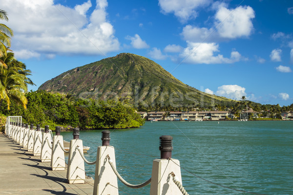 Cabeça cratera Havaí marina sudeste água Foto stock © LAMeeks