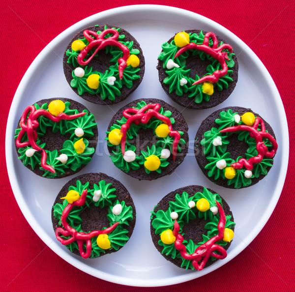 Christmas Wreath Brownies Stock photo © LAMeeks