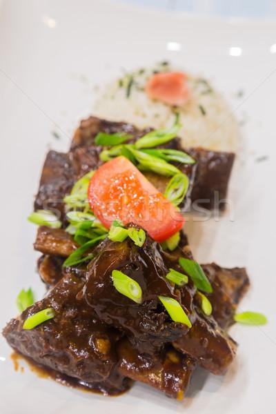 Hawaiian Crockpot Beef Ribs Stock photo © LAMeeks