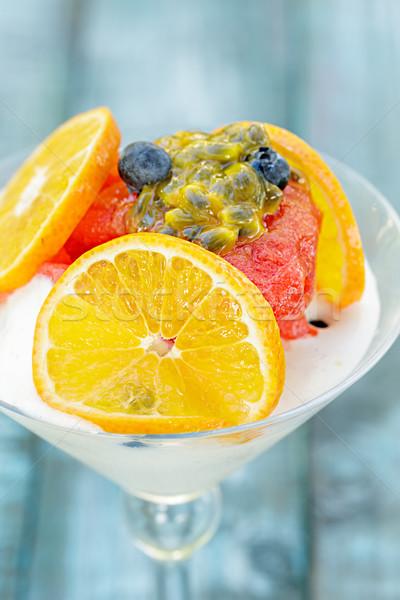 клубника шербет Martini тропические плодов мороженым Сток-фото © LAMeeks