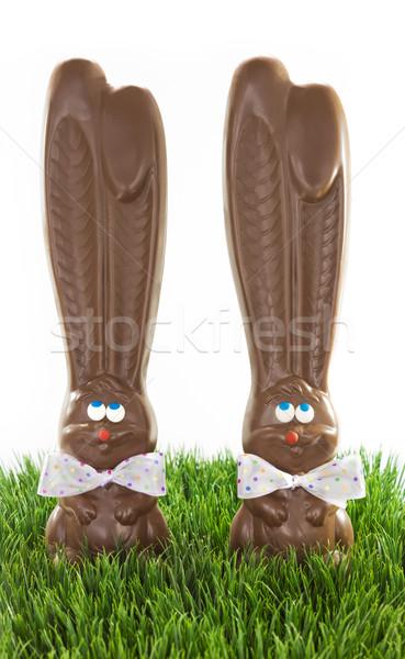 Cioccolato erba due arco bianco Foto d'archivio © LAMeeks